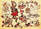 Hawaii ALOHA MONKEY vintage Sailor Jerry Traditional style tattoo poster print