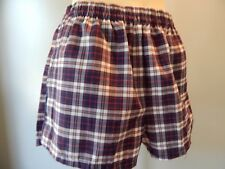 Vintage 1980s Red White Navy Blue Plaid Swim Suit Sport Trunks Beach Shorts M 32