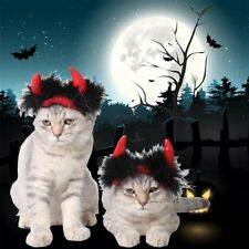 New Halloween Pet Cat Witch Hat Costume Magic Fancy Dress Puppy Outfit Clothes#
