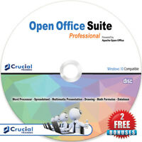 Open Office Suite Professional Software CD Student Home Business, Windows +BONUS