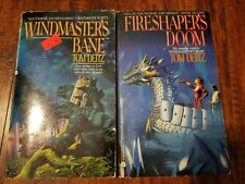 Lot of 2 Tom Deitz paperbacks, Fireshaper's Doom, Windmaster's Bane