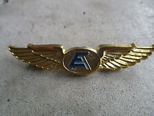 vintage closed 1990 Enterprise Airlines USA Pilot Wings Pin 1
