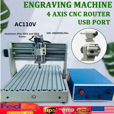 4 Axis Cnc 3040 Router Engraver Usb 3d Milling Drilling Cutter Woodworking Er11