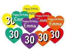 Personalised Birthday Table Confetti - Name on Front / Age Reverse any colours