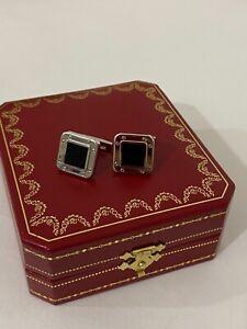 Cartier Cufflinks Onyx