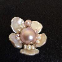 Unique Baroque Kasumi pearl 14K Gold Filled Flower pendant Necklace Original