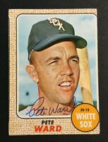 Pete Ward White Sox signed 1968 Topps baseball card #33 Auto Autograph