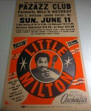 ORIGINAL 1989 LITTLE MILTON BLUES MUSIC CONCERT POSTER