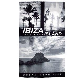 Ibiza Large Beach Towel Island Es Vedra Pool Splash Live Fast Dream Life