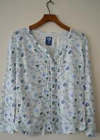 NEW EX MANTARAY DEBENHAMS WHITE FLORAL JERSEY TOP BLOUSE UK SIZE 10 14 16 20 22