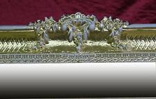 Grande Barroco Espejo de Pared ANTIGUO ORNAMENTACIONES en dorado blanco 96x57
