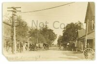 RPPC Main Street Livery ECONOMY IN Indiana Wayne County Real Photo Postcard