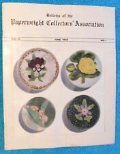 24 HOUR SALE!  Bulletin of the Paperweight Collectors' Association 1958