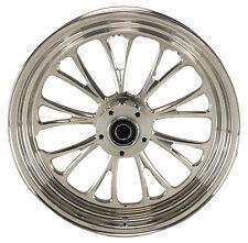 "Manhattan Polished CNC Machined 18"" x 5.5"" Rear Wheel for Harley & Custom Models"