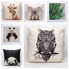 Cotton Linen Throw Printed Pillow Cushion Covers Home Decor Australian Seller