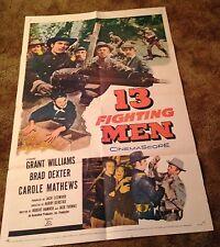 13 FIGHTING MEN Grant Williams Carole Mathews 1960 ONE SHEET MOVIE POSTER