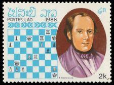 "LAOS 901B (Mi1118) - Chess Masters ""Adolph Anderssen"" (pf53516)"