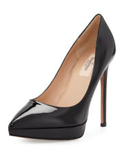 Valentino Black Patent Leather Platform Point-Toe Pump Size : IT38/US7.5