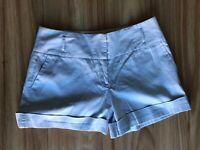BARKINS Sz 14 Womens Shorts Light Grey Low Rise Above Knee Casual Work
