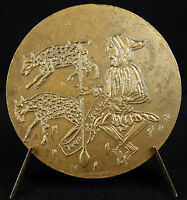 Medal to the Writer Jean Brie Dit le Good Shepherd Sc Auricoste 1955 Medal