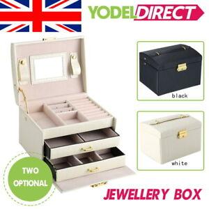 Large Jewellery Box Cabinet Necklace Armoire Birthday Organizer Bracelet UK