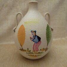 Hand Painted Italien Pottery zwei behandelt Krug von CE als Albisola für Marsala FLORIO