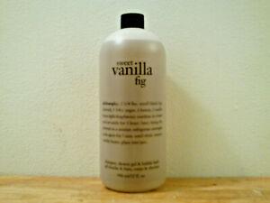 Philosophy Sweet Vanilla Fig Shampoo & Shower Gel (32 oz) Brand New & Sealed