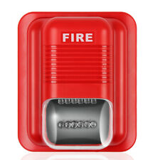 Fire Alarm Horn Strobe Quick Alert Safety Systems Sensor Red With Wall Mount