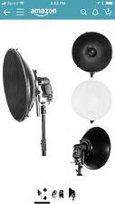 "Studio 16"" Flash Beauty Dish Reflector Honeycomb Grid & Diffuser Set for Canon"
