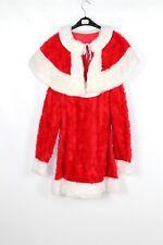 Women's Miss Père Noël Costume Robe fantaisie 38 cm (C15a) en fourrure synthétique