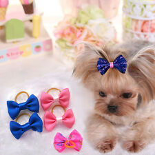 100pcs Handmade Designer Pet Dog Accessories Grooming Hair Bows For Puppy Cute