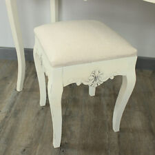 Cream padded dressing table stool french country bedroom furniture home