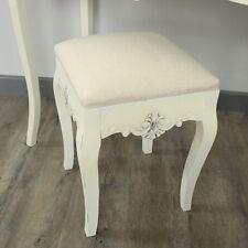 Crema imbottita toletta sgabello french country mobili camera da letto casa