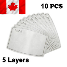10X PM2.5 Face Mask Filter 5 Layers - Activated Carbon Filters replacement