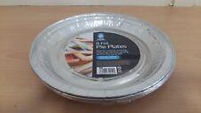 8 Pack Round Aluminium Foil Pie Plate Dish 197mmx16mm Bake Oven Cook BBQ Buffet 16