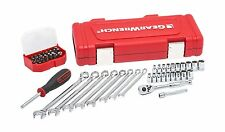 Gearwrench 61pc 1/4dr. Socket Wrench, Ratchet Set, SAE & Metric Tool Set #81024