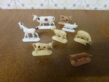 Lot  d'anciennes figurines  W.GERMANY animaux de la ferme jouet vintage