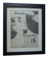 BLONDIE+Picture This+Lines+POSTER+AD+RARE ORIGINAL 1978+FRAMED+FAST GLOBAL SHIP