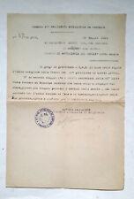 RARO! CAPORETTO 1919 AUTOGRAFO COLONELLO CANNONIERE ARTIGLIERIA 27° CORPO ARMATA