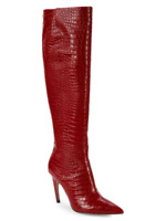 Sam Edelman Fraya Knee High Red Croc Embossed Leather Boot Size 10 M 14856*