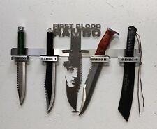 Designer Wandhalter Rambo Messer Jagd Filmmesser Rambo 1,2,3,4 Edelstahl
