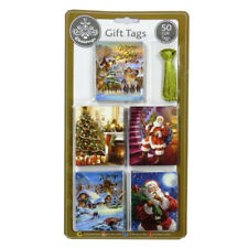 Luxury Gold Foiled Christmas Gift Tags - Vintage Traditional - Pack of 50