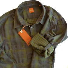 %% estiloso HUGO BOSS Camisa Talla S, Forma: CalifoE NARANJA