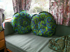 Pair of original 1960's psychedelic inflatable cushions