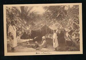 Algeria BOU-SAADA Maison d'ete native shelter 1900/10s? PPC pub Hussein-Dey