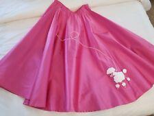 Hot Pink Poodle Skirt Halloween Cosplay Dress Up Womens Sz 6 - 8