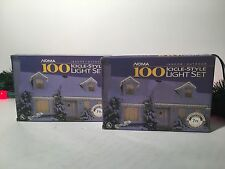 PAIR OF NOMA 100 (200 TOTAL) INDOOR/OUTDOOR ICICLE-STYLE LIGHT SET WHITE WIRE