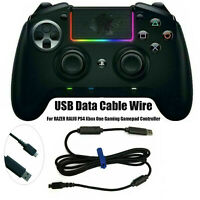USB Data Cable Charge Wire For RAZER RAIJU PS4 Xbox One Game Gamepad Controller