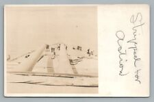 """""""Stripped for Action"""" RPPC Antique Navy Photo—Destroyer WWI Military USS Nevada"""