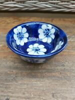 Blue And White Flower Ceramic Small Bowl. Trinket